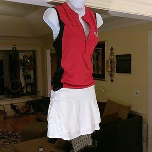 Athleta ladies white athletic skirt